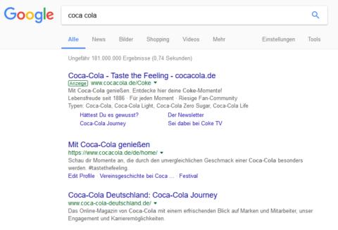 Suchergebnis für Coca Cola