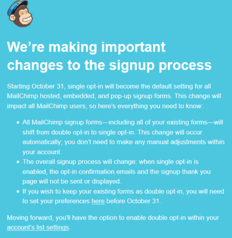 Screenshot Mail Chimp