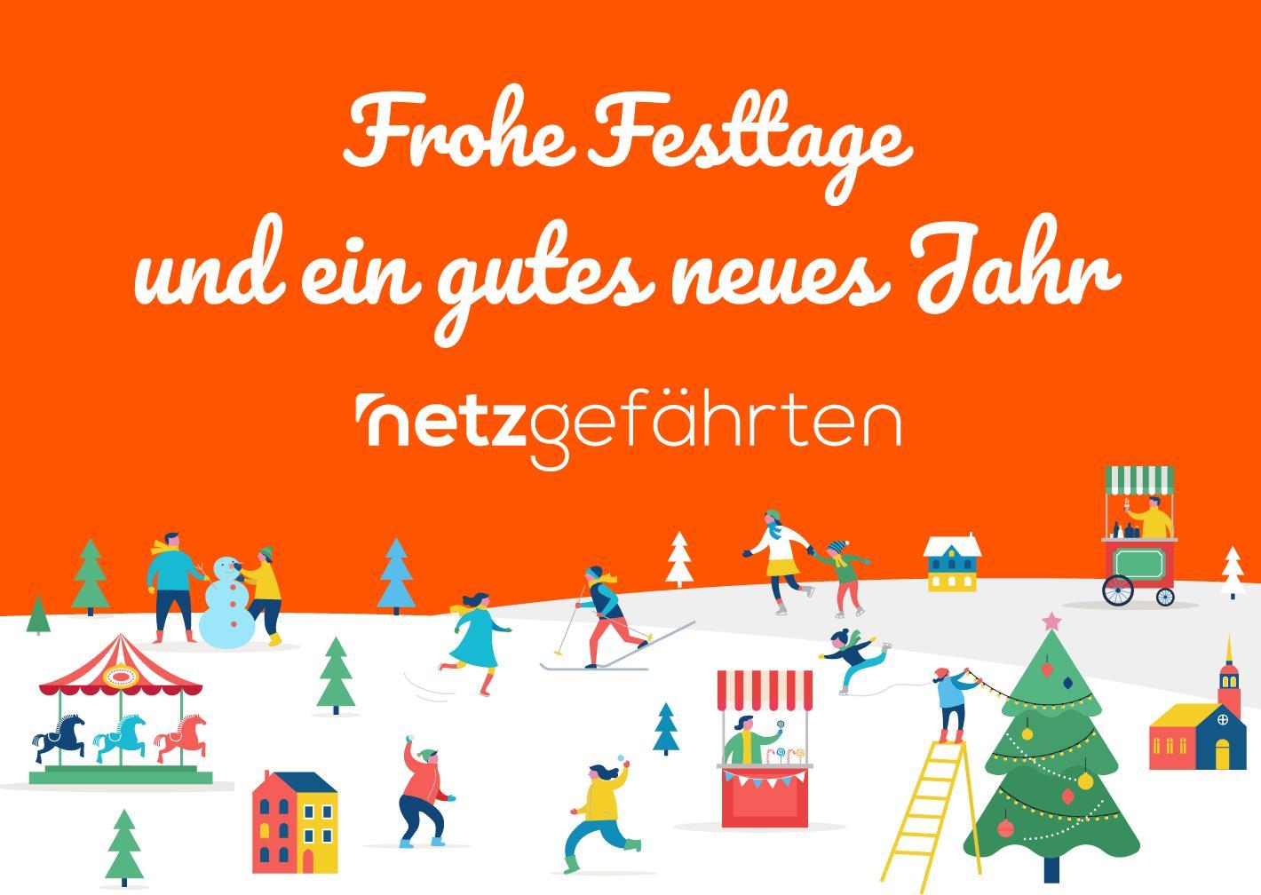 Frohe Weihnachten An Kollegen.Die Netzgefährten Wünschen Frohe Weihnachten Und Einen Guten Rutsch