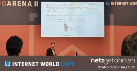 Internet World 2020 - Influencer Marketing Vortrag von Andreas Armbruster